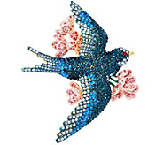 Joan Rivers Pave Bluebird of Happiness Brooch - J327578