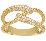 Judith Ripka 14K_Clad 4/10 cttw Diamonique Swirl Ring - J328078
