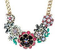 As Is Joan Rivers Jeweled Bouquet 18 Necklace with 3 Extender - J330778