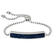 Stainless Steel Crystal Polished Adjustable Bracelet - J331278