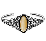 As Is American West Sterling Oval Mother-of-Pearl Graudated Cuff - J333478