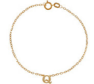 As Is Vicenza Gold Polished Initial Bracelet 14K Gold - J333578