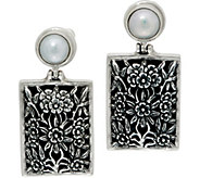 EXEX by Claudia Agudelo Sterling Silver Cultured Pearl Floral Earrings - J350878
