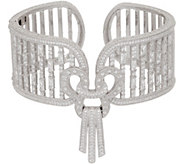 Judith Ripka Sterling Diamonique Gatsby Cuff Bracelet - J352278