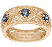 Judith Ripka 14K Ruby, Emerald or Sapphire Diamond Ring - J355078
