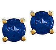 14K Round Precious Gemstone Stud Earrings - J376978