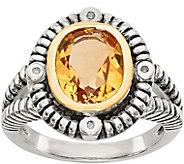 Sterling Silver & 14K Yellow Gold Gemstone andDiamond Ring - J378178