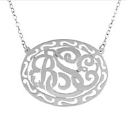 Sterling Personalized Filigree 18 Necklace - J379178