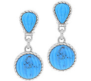 Judith Ripka Sterling Turquoise Drop Earrings - J379978