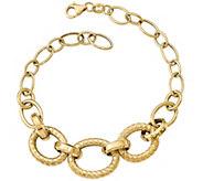 Italian Gold 8 Round & Oval Bold Link Bracelet14K, 7.2g - J382078