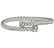 Italian Sterling Silver Braided Woven Bracelet,13.1g - J382878