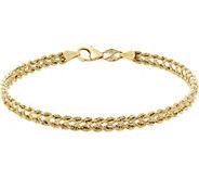 EternaGold 6-3/4 Heart Rope Bracelet, 14K Gold, 1.9g - J383378