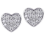 Affinity 14K 1/3 cttw Diamond Cluster Heart Stud Earrings - J383678