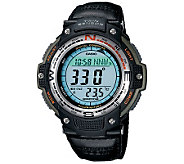 Casio Mens Digital Compass Twin Sensor Nylon Band Watch - J106979