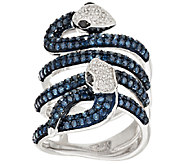Layered Snake Diamond Ring, Sterling, 1.50 cttw, by Affinity - J268979