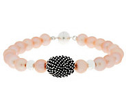 Michael Dawkins Sterling Cultured Pearl & Granulation Bracelet - J272179