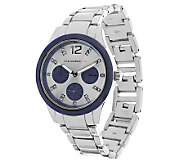 Isaac Mizrahi Live! Colorful Chronograph Bracelet Watch - J276979
