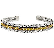 Color Pave Woven Diamond Cuff, Sterling, 3/4 cttw, by Affinity - J290979