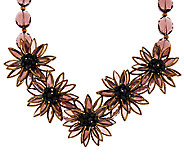 Joan Rivers Extravagant Glass Flower 20 Bib Necklace - J292579