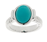 Sleeping Beauty Turquoise Rope Design Sterling Ring - J292979