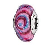 Prerogatives Pink/Blue/Purple Italian Murano Glass Bead - J300379