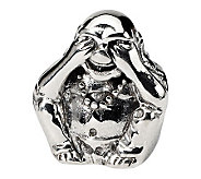 Prerogatives Sterling See No Evil Buddha Bead - J300679