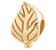 Prerogatives 14K Yellow Gold-Plated Sterling Leaf-Design Bead - J302779