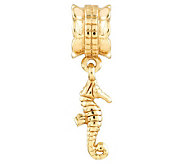 Prerogatives 14K Yellow Gold-Plated Sterling Seahorse Bead - J302879