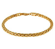Veronese 18K Clad 7-1/4 Polished Wheat Bracelet - J305579