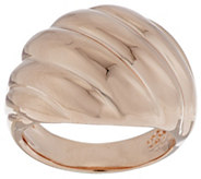 As Is Bronzo Italia Polished Ribbed Twist Domed Ring - J317879