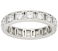 Epiphany Diamonique 100-Facet Fancy Eternity Band Ring