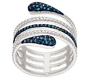 Multi-Wrap Color Diamond Ring, Sterling, 1/4 cttw, by Affinity - J321079
