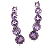 Gemstone Sterling Silver Ear Climber Earrings - J324479