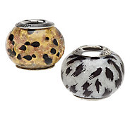 As Is Prerogatives Sterling Set of 2 Wild Thing Beads - J325879