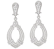 Judith Ripka Sterling 1.00 cttw Diamonique Drop Earrings - J327379