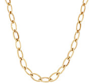 As Is 14K Gold 18 Polished Marquise Link Necklace, 8.4g - J327979