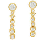 Judith Ripka 14K_Clad Diamonique Graduated Drop Earrings - J328079