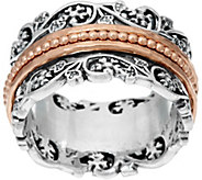 Sterling Silver Floral Lace Design Spinner Ring by Or Paz - J332279