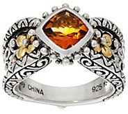 Barbara Bixby Sterling & 18K 1.00 ct Citrine Ring - J335579