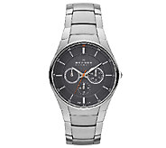 Skagen Mens Stainless Steel Bracelet Black Dial Watch - J336279