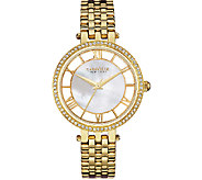 Caravelle New York Womens Goldtone Crystal Bracelet Watch - J339779