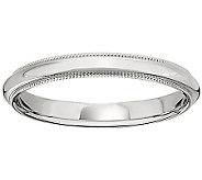 18K Gold 3mm Milgrain Comfort Fit Wedding BandRing - J340279