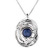 Hagit Sterling Silver Swirl & Kyanite Pendant w/ Chain - J340679
