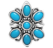 Carolyn Pollack Sterling Turquoise M agnetic Insert - J341779