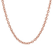 Stainless Steel 30 Cable Link Necklace - J342479