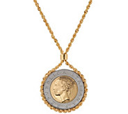 Bronze 500 Lire Coin Necklace by Bronzo Italia - J349379