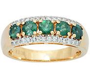 As Is 5-Stone Alexandrite & Diamond Band Ring 14K, 0.90 cttw - J351679