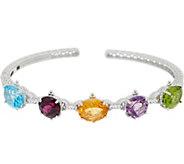 Judith Ripka Sterling Silver Multi-Gemstone Cuff, 11.50 cttw - J352279