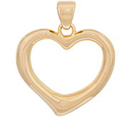 Oro Nuovo Polished Heart Pendant, 14K - J353479