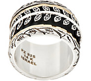 Or Paz Sterling Silver & 14K Gold Leaf Design Spinner Ring - J354979